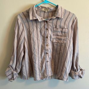 Love notes button up top size XL